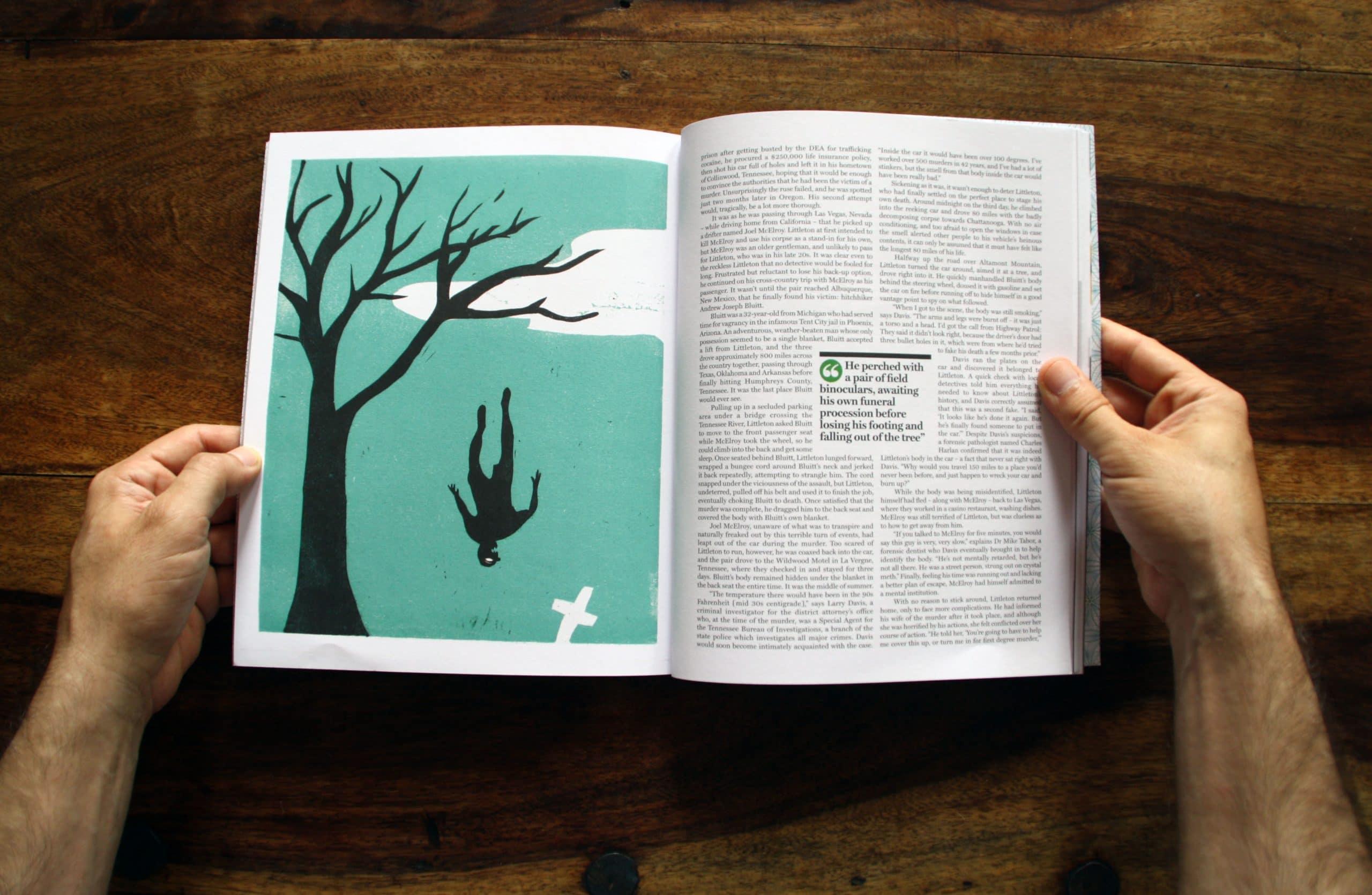 One of Jade's illustrations for 'Dead Man Running', DG issue 14