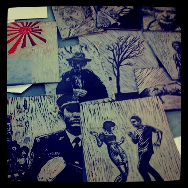 Creating illustrations for 'Patrolling the Beat', DG issue 8