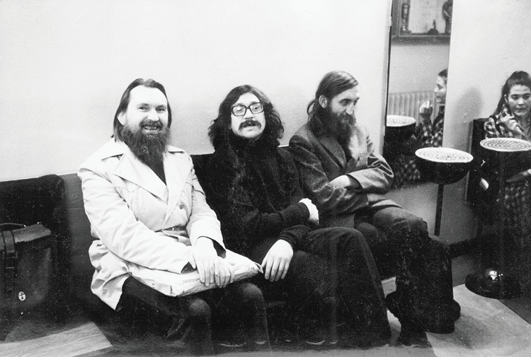 Band members Bondy, Jirous and Brabenec in November 1975
