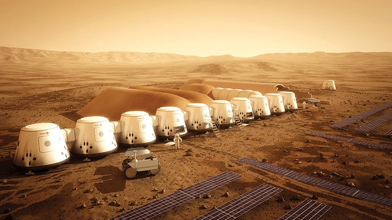 A promotional image for Bas Lansdorp's Mars One project. Image: Bryan Versteeg, Mars One