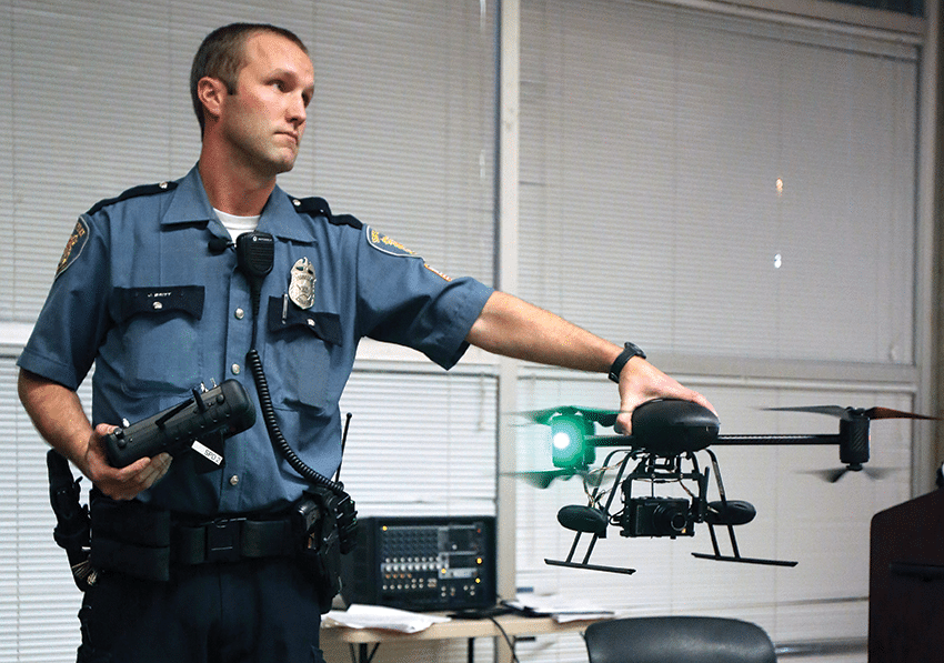 eattle police's drone programme was suspended in February 2013 after protests from local residents. Photo: Colin Diltz/AP/Press Association Images