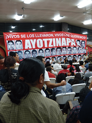 The final session of the anti-establishment National Popular Convention, held in Ayotzinapa, February 2015. Photo: Témoris Grecko