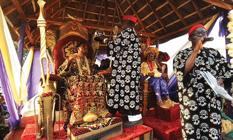The coronation of Igwe Chris Ejiofor. Photo: Susan Schulman