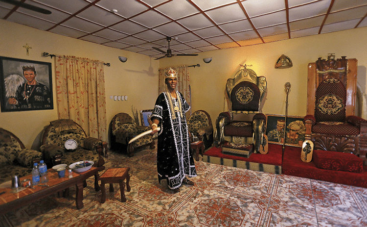 Igwe Chris Ejiofor at the Ngamikpo IV Palace in Oyofo Oghe. Photo: Susan Schulman