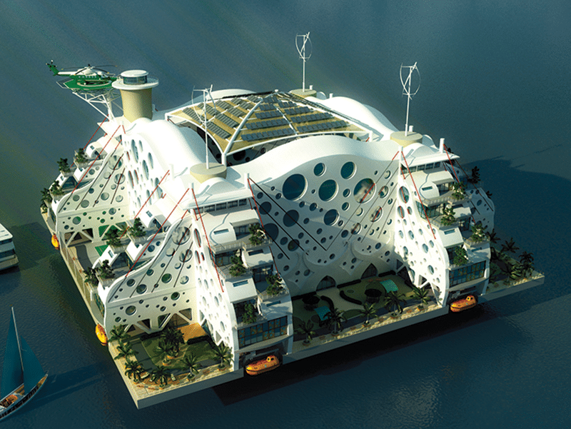 'Oasis of the Sea', a design submitted for the Seasteading Institute's design contest. Photo: The Seasteading Institute