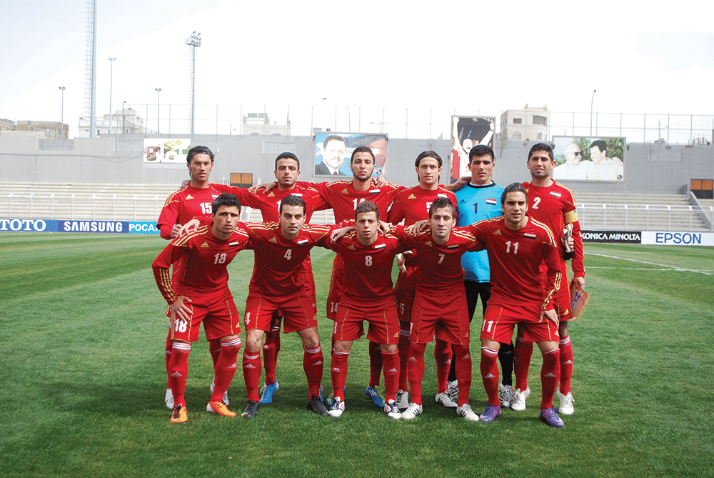 The Syrian Olympic team line up in Amman