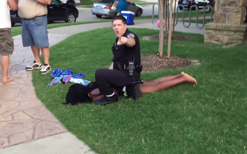 In McKinney, Texas, a police officer was placed on administrative leave in June 2015 after a video emerged in which he forced an unarmed, black teenage girl to the ground at a pool party. Photo: YouTube