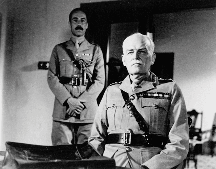 John Barron as General Haldane