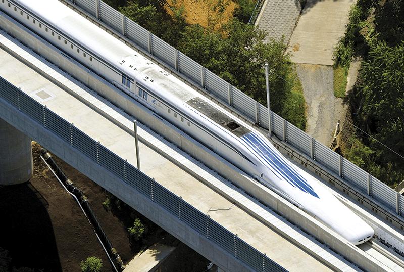 2015: Japan's 600 km/h L0 Series maglev train Photo: