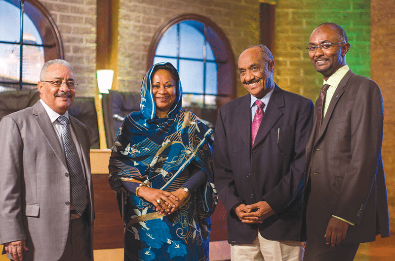 'Mashrouy''s panel of judges: from left Kamal Ahmed al-Zubair, Abida Yahia Mahdi, Syed Ahmed Hassan and Ahmed Abdellatif. Photo: Susan Schulman