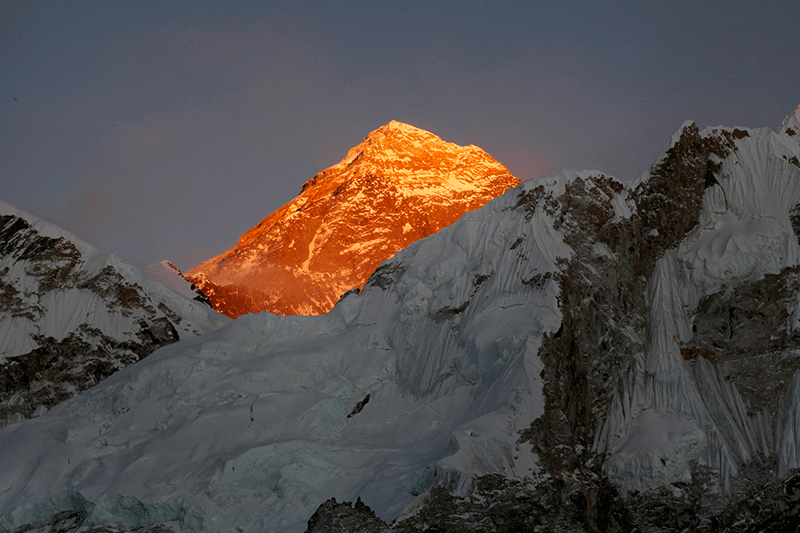 Mt. Everest seen from the way to Kalapatthar in Nepal. Photo: Tashi Sherpa/AP/Press Association Images