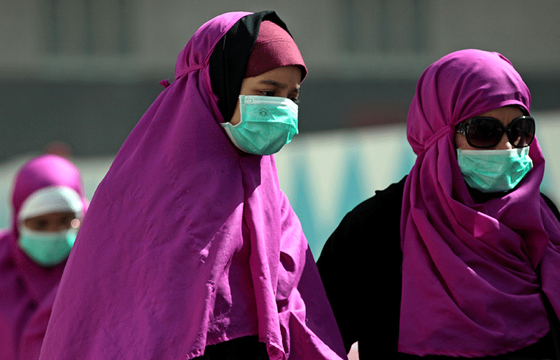 ilgrims wear surgical masks to prevent infection from Mers in the holy city of Mecca, Saudi Arabia, in May 2014. Photo: Hasan Jamali/AP/Press Association Images