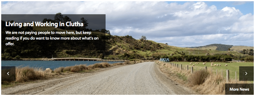 The Clutha District council  confirms they are definitely not paying people to move to Kaitangata