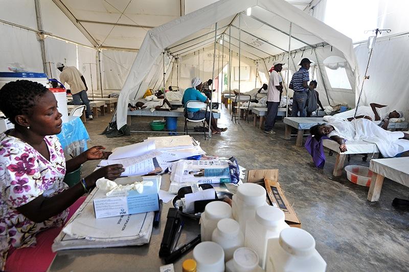 The cholera treatment centre at Mirebalais