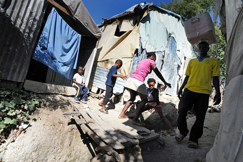 Camp Acira in Port-au-Prince houses 32,400 people who were displaced by the 2010 earthquake. In November 2014 there were five new cases of cholera each day