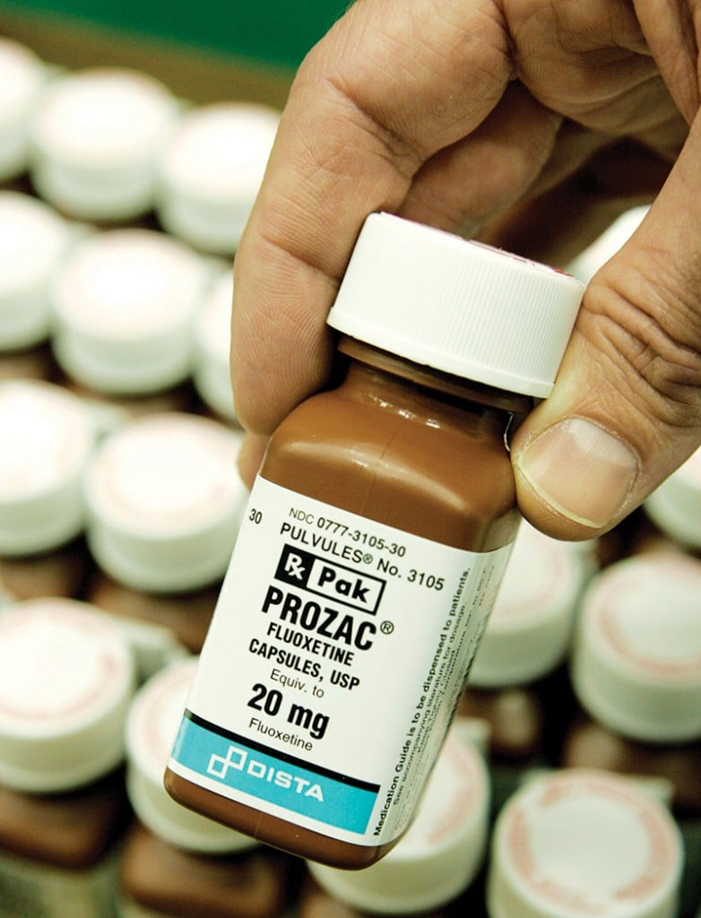A bottle of Prozac. Photo: AP Photo/Darron Cummings
