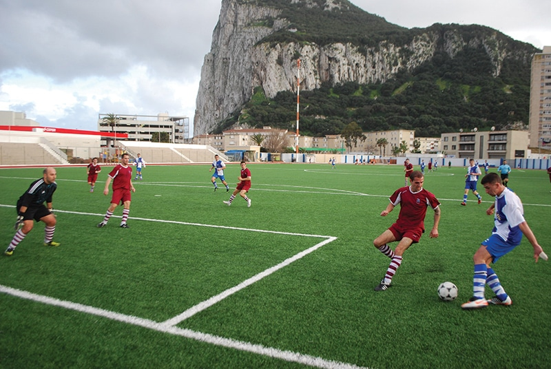 St Joseph's play Glacis Utd in the local Gibraltar league. Attendance: 30. Photo: James Montague