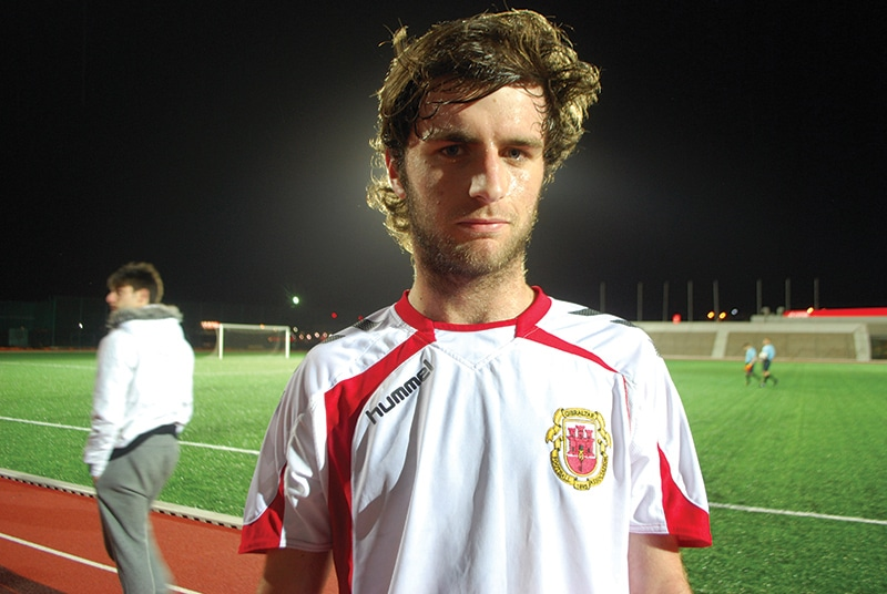 A member of the Gibraltar under 17 team. Photo: James Montague