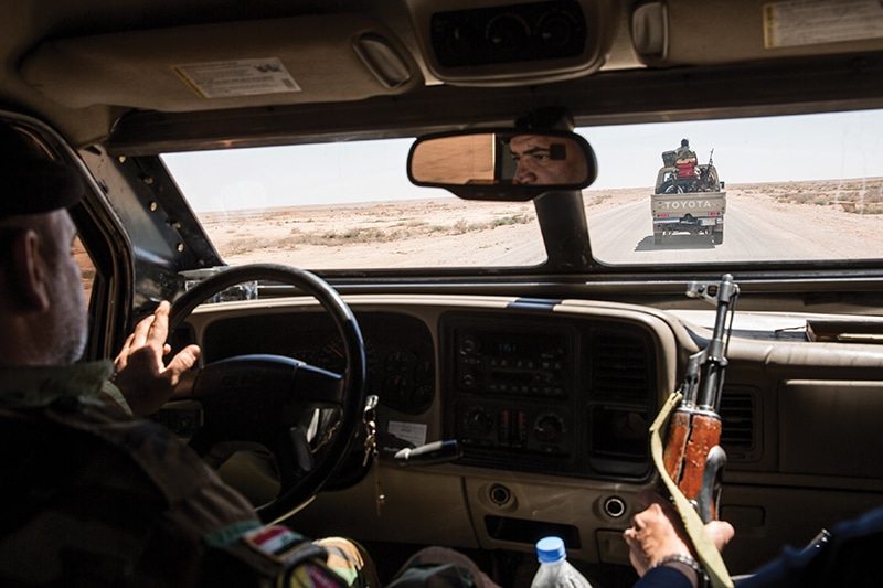 The flat terrain of Anbar provided Isis with an ideal battlefield for off-road fighting.  Now the Hashd play them at their own game with their fleets of 4x4s