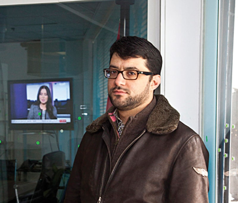 Malik al-Abdeh, Barada TV co-founder. Photo: Rob Greig