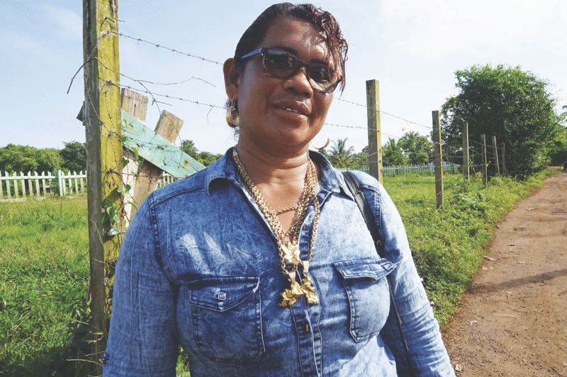 Stephanie Miguel of the Guyana Women Miners Association. Photo: Susan Schulman