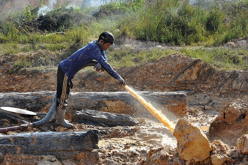 Gold Mining  in the bush of Northern Guyana  Guyana Sept/Oct 2016