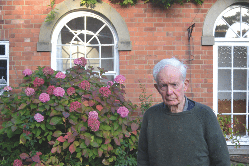 Godfrey Meynell  on his Derbyshire estate, November 2016.  Photo: Matthew Lee