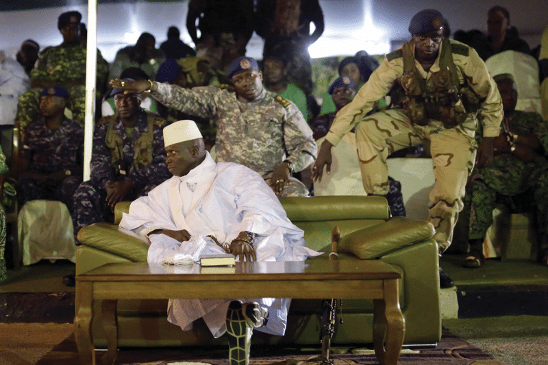 President Yahya Jammeh attends his final rally before the election, November 2016.   Photo: Jerome Delay / AP / PA Images