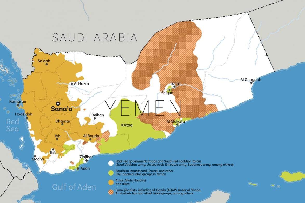 Map: The conflict in Yemen – June 2018 | Delayed Gratification